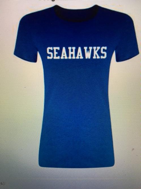 Blue Ladies Cut Seahawks Shirt