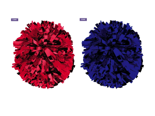 Red and Blue Poms