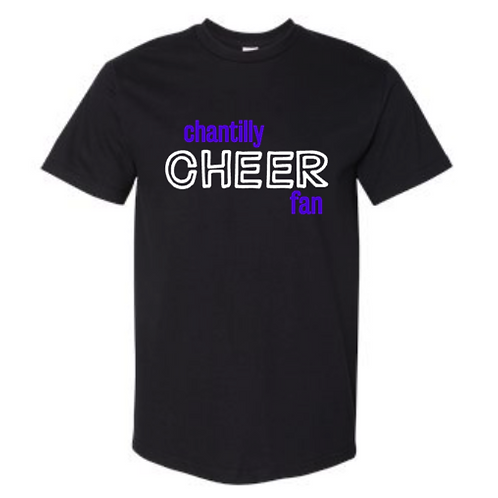 Black Chantilly Cheer Fan Tee