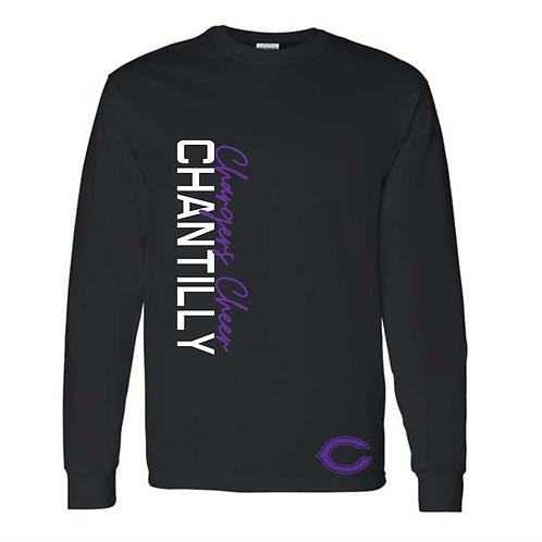 Black Chantilly Cheer Fan Tee