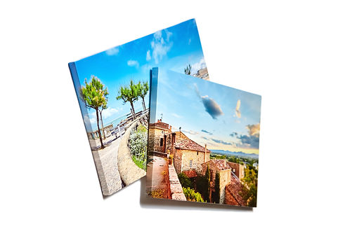 Canvas photo prints isolated on white ba