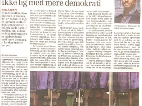V i Solrød vil ikke have lokale afstemninger - vi kan bare udskifte politikerne hvert 4. år