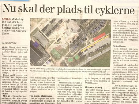 Allerslev Skole  -  80 bliver til 350 cykel P-pladser