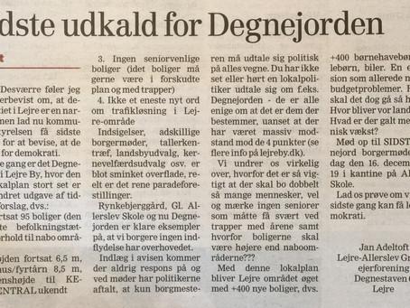 Afstemning om lokaldemokratiet i Lejre!!!