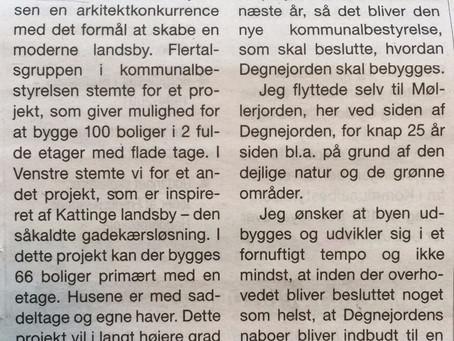 Venstre siger 66 boliger på Degnejorden