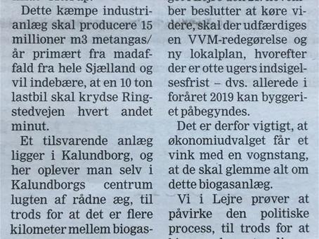 Lejre politikere, nej til biogas industri her