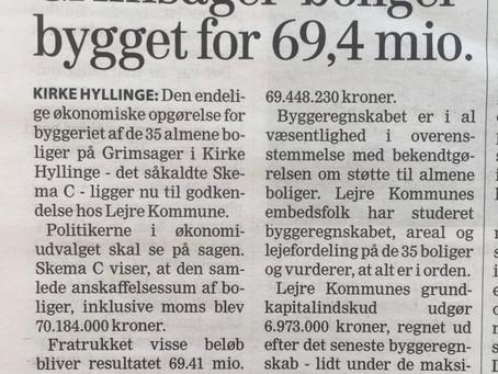 Lejre har taget kr. 7 mio. op af kassen til 35 almene boliger i Kirke Hyllinge