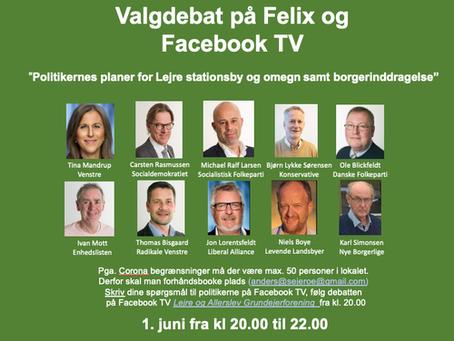 Første Valgdebat 1. juni i Felix