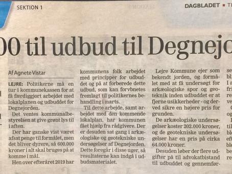 Lejre har brugt nok over kr. 3 mio. på Degnejorden indtil nu!