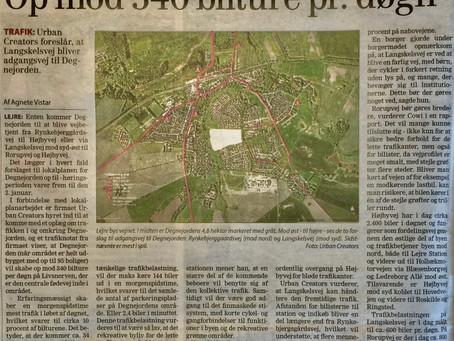 Trafikken øges med 1.200 biler/dag på Højbyvej i Lejre By