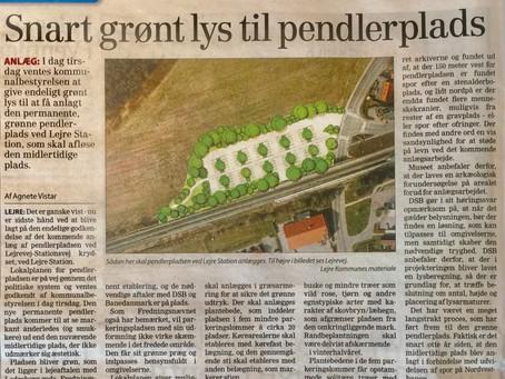 Pæn løsning for grøn pendlerplads