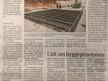 Lejrehallen + kr. 3 mio. oven i de budgetterede kr. 20 mio.