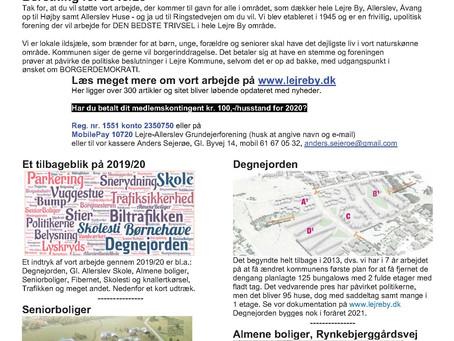 Grundejerforening beretning for 2019/20