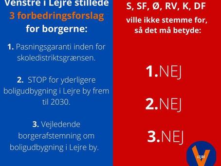 Organiseret byge af angreb på Venstre fra alle de andre partier!