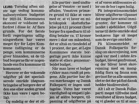 Budget 2010 konklusion fra DF