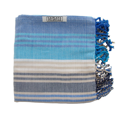 Peshtemal Towel - Rainbow Navy