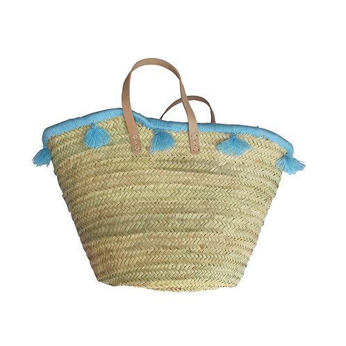 Summer Basket Wrap Around Tassel - Blue