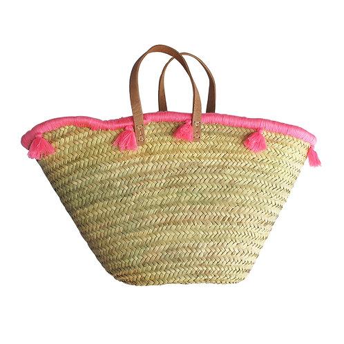 Summer Basket Wrap Around Tassel - Pink