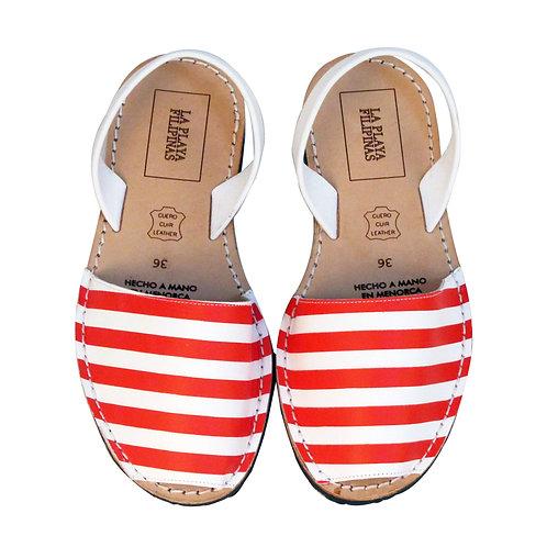 Menorquinas • Vermell-Blanc Stripes