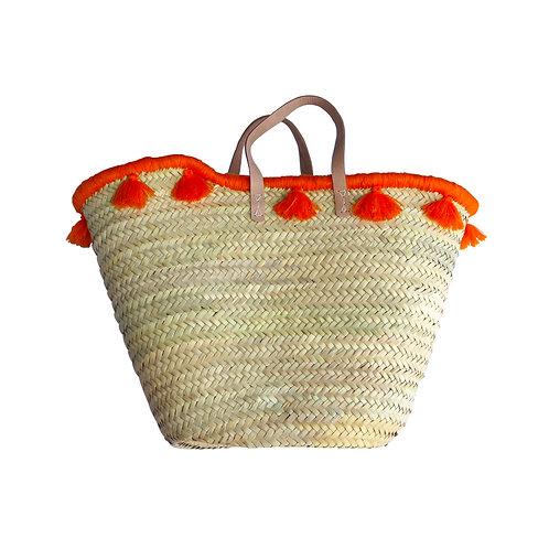 Summer Basket Wrap Around Tassel - Orange
