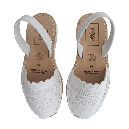 Menorquinas • Crochet Blanc