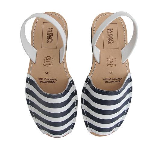 Menorquinas • Blau-Blanc Stripes