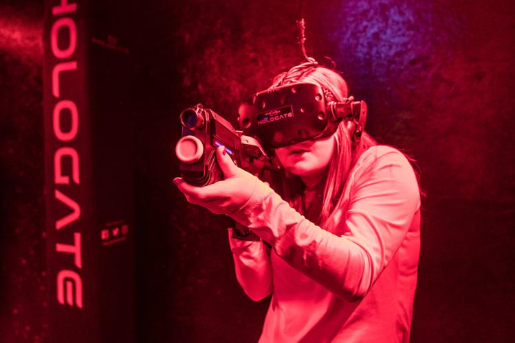 Hologate virtual reality game at Hickory Falls
