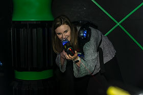 Hickory Falls is home to a 6,000 sq. ft. laser tag arena. You and 25 other friends can come play a game in our fully immersive multi-level arena.