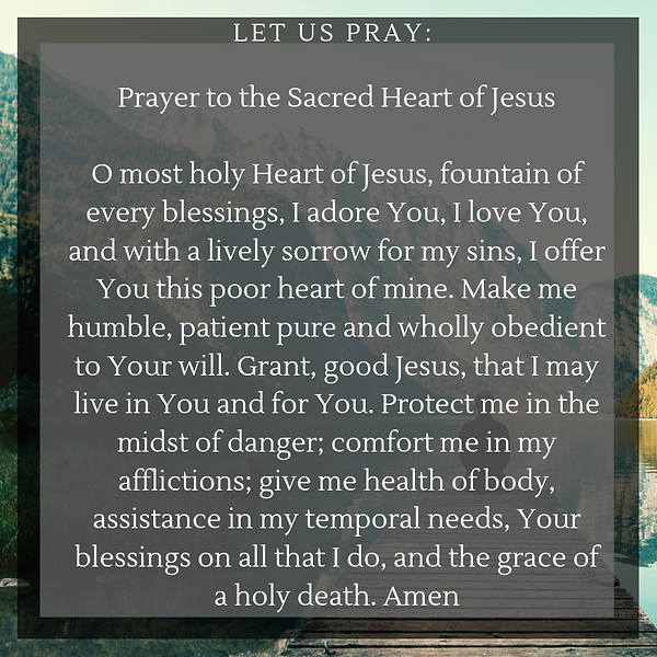 Prayer to the Sacred Heart of Jesus O mo