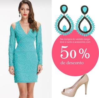 Look Completo de R$ 1.778,80  por 10x de R$ 88,95 na compra do vestido longo - Loja Batel