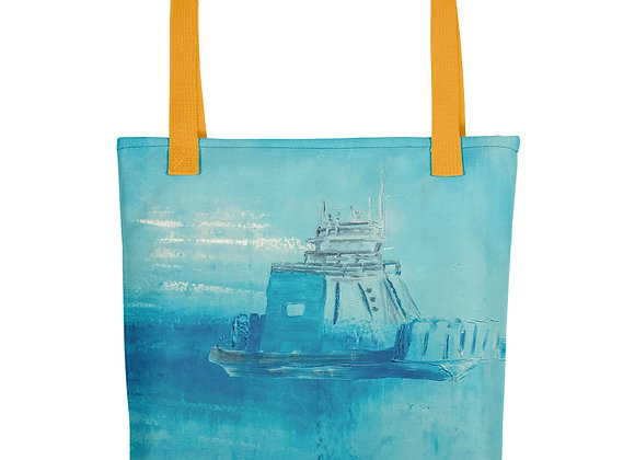 Blue Drummond Island Ferry Tote bag