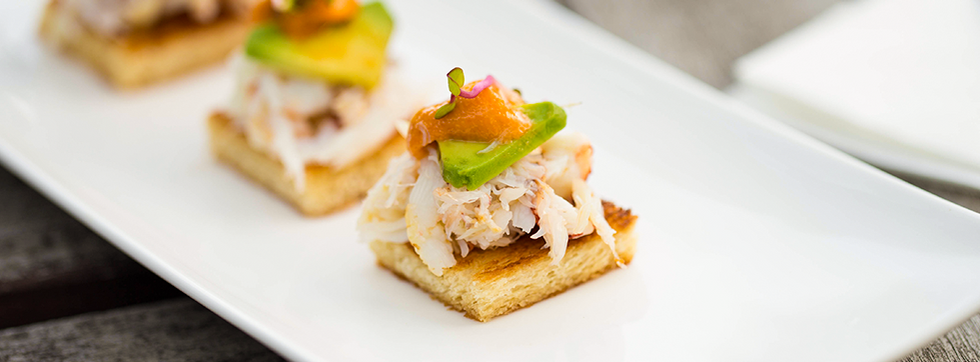 Dungeness Crab with Uni and Avocado on Toasted Brioche