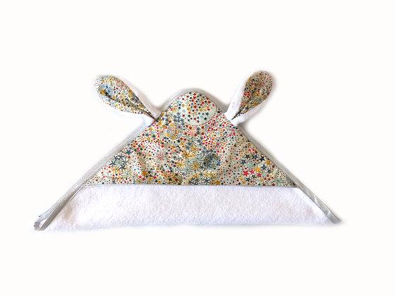 Cape de bain Mon joli petit lapin en Liberty Adel multico