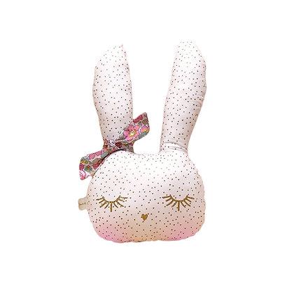 Coussin Lapin Gisèle la lapine trop belle Liberty