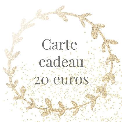 Carte cadeau 20 euros
