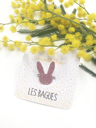 Bague fillette glitters lapin