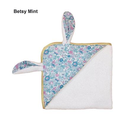 Cape de bain Mon joli petit lapin en Liberty Betsy mint