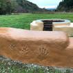 国営越後丘陵公園に焚き火台ベンチ完成(長岡)
