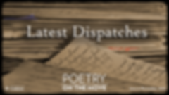 A stack of letters denoting the Latest Dispatches theme for Poetry on the Move 2020