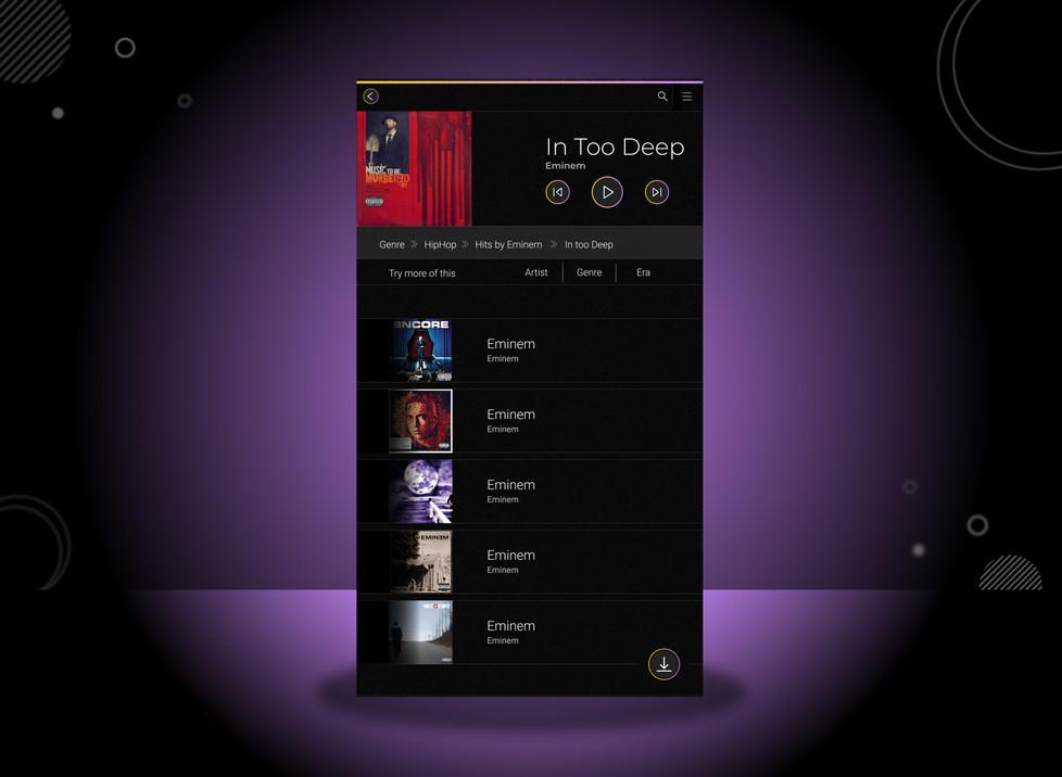 Playlist view
