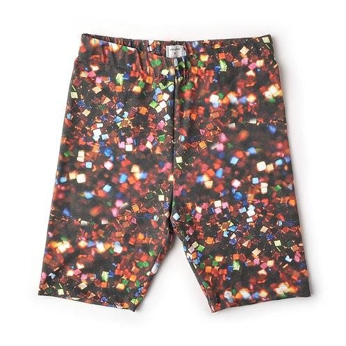 Bike Shorts in Glitter