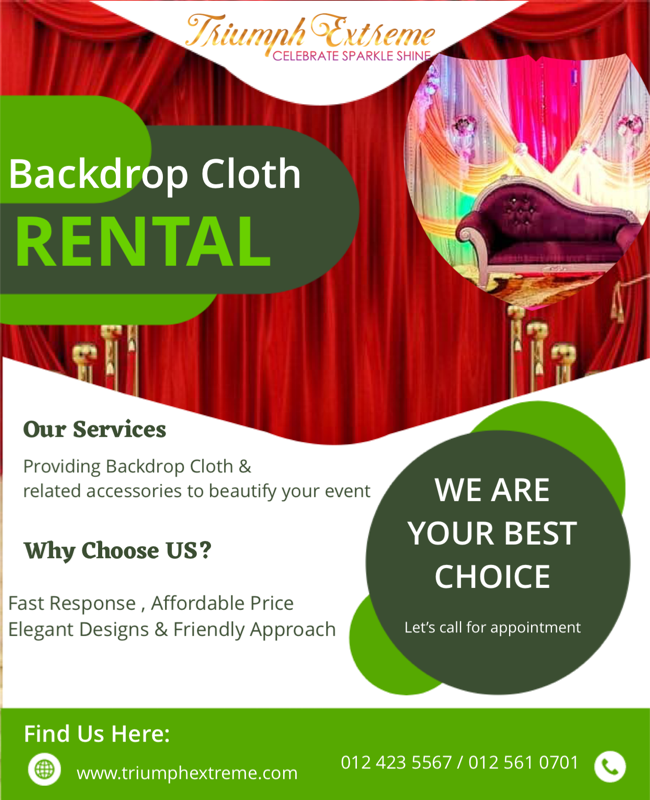 Backdrop Cloth Rental Event decoration E