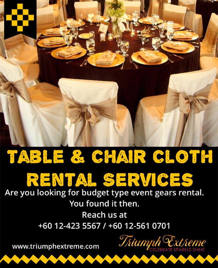 Table & Chair Cloth Rental  Deco item Re