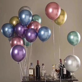 Metallic Baloon Shining Baloon Party Dec