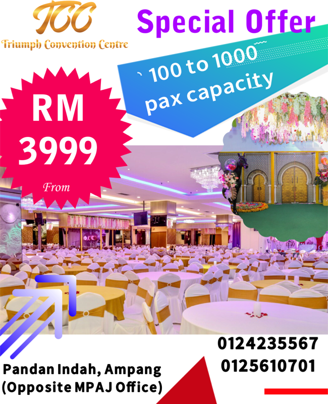 RM 3999 TCC offer TCC Banquet hall Banqu