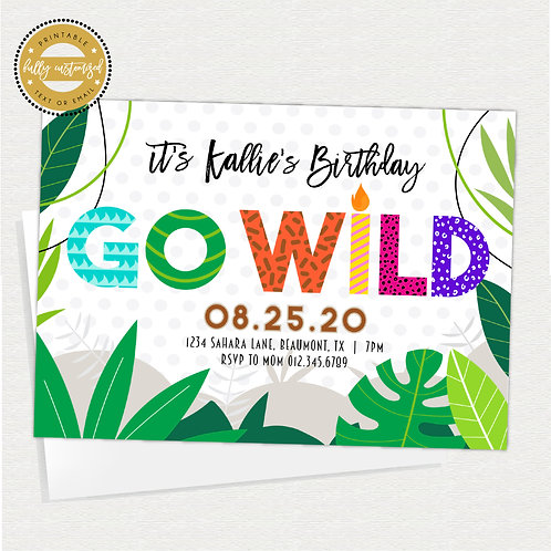 Go Wild Jungle Party