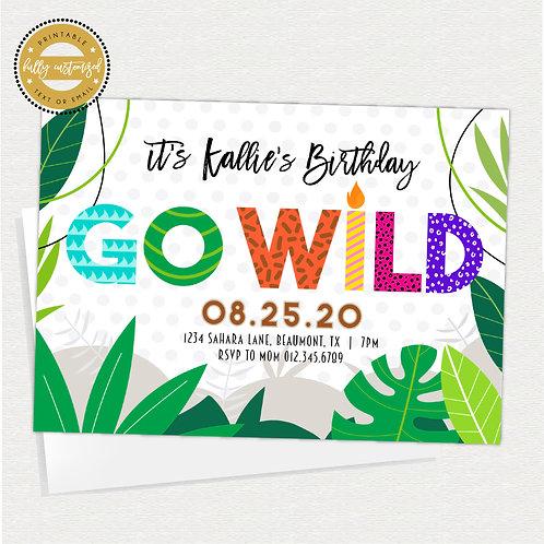 Go Wild Jungle Party