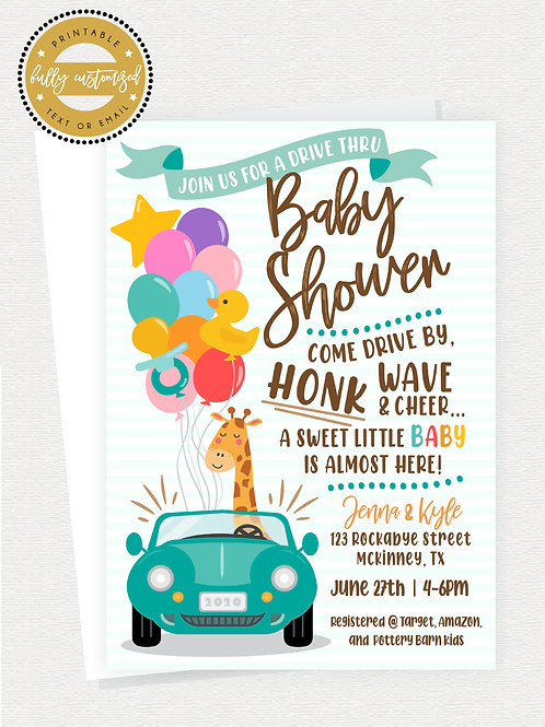 Drive-thru Baby Shower