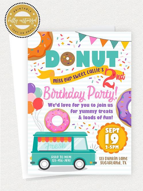 DONUT BIRTHDAY PARTY 2
