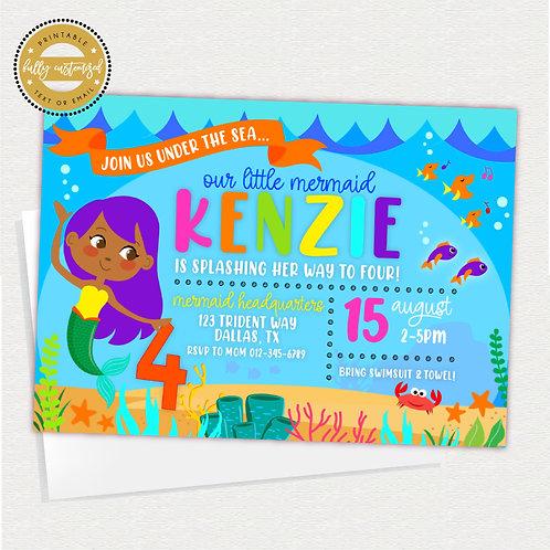 Happy Little Mermaid Invite